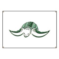 Diving Green Sea Turtle Banner