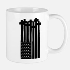 American Flag Crosses Mugs