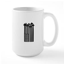 American Flag Crosses Mugs