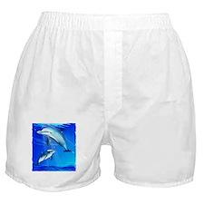 Mom Baby Dolphin Boxer Shorts