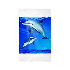 Mom Baby Dolphin Area Rug