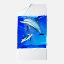 Mom Baby Dolphin Beach Towel