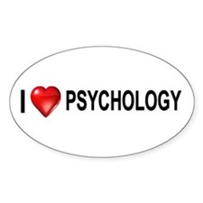 I love psychology Oval Decal