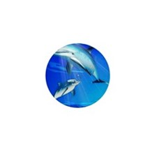 Mom Baby Dolphin Mini Button (100 pack)