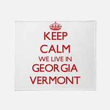 Keep calm we live in Georgia Vermont Throw Blanket
