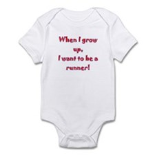I want to be a runner Infant Bodysuit