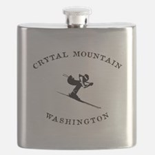 Crystal Mountain Washington Ski Flask