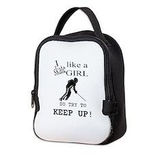 Skate like a girl Neoprene Lunch Bag