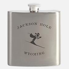 Jackson Hole Wyoming Ski Flask