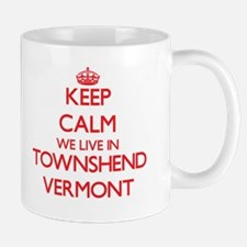 Keep calm we live in Townshend Vermont Mugs