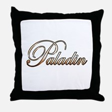 Gold Paladin Throw Pillow