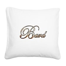 Gold Bard Square Canvas Pillow