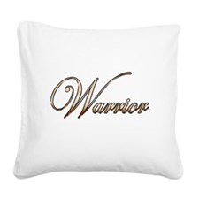 Gold Warrior Square Canvas Pillow