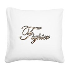 Gold Fighter Square Canvas Pillow