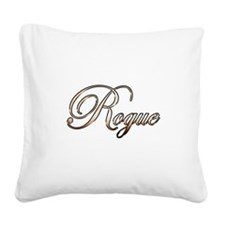 Gold Rogue Square Canvas Pillow