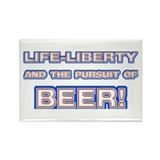 Life, Liberty, Beer Rectangle Magnet