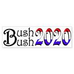 Bush Bush 2020 Bumper Sticker