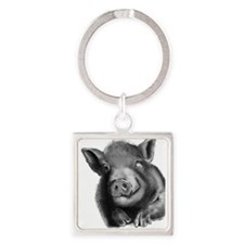 Lucy the wonder pig Keychains