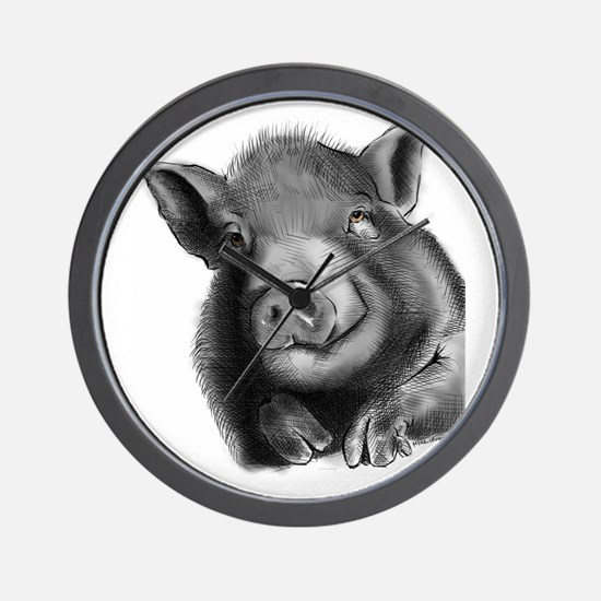 Lucy the wonder pig Wall Clock