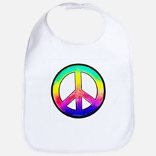 Multi-color Peace Symbol Bib