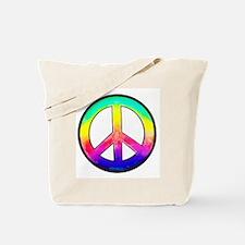Multi-color Peace Symbol Tote Bag