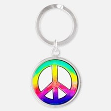 Multi-color Peace Symbol Keychains