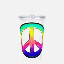 Multi-color Peace Symbol Acrylic Double-wall Tumbl