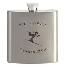 Mount Baker Washington Ski Flask