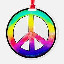 Multi-color Peace Symbol Ornament