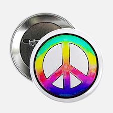 "Multi-color Peace Symbol 2.25"" Button (10 pack)"