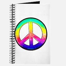 Multi-color Peace Symbol Journal