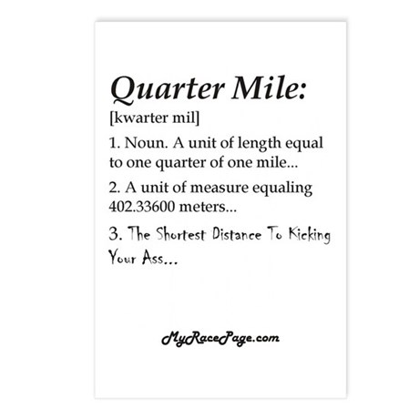 Quarter Mile Postcards (Package of 8)