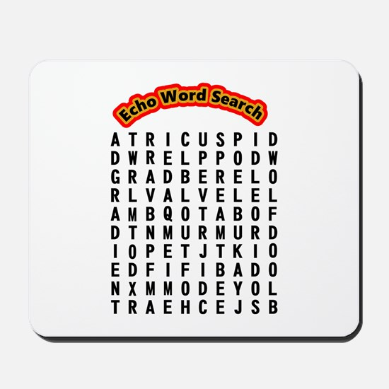 Echocardiogram Word Search Mousepad