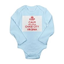 Keep calm we live in Chase City Virginia Body Suit