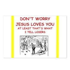bocce joke Postcards (Package of 8)