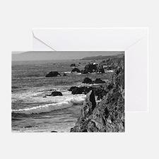 black+ white coastal photo Greeting Cards (6)