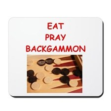 backgammon joke Mousepad