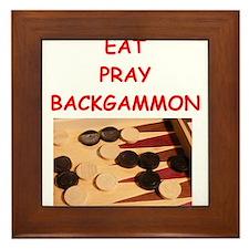 backgammon joke Framed Tile