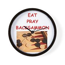 backgammon joke Wall Clock