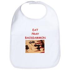 backgammon joke Bib