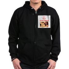 backgammon joke Zip Hoodie