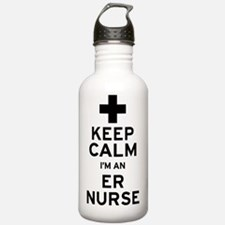 Keep Calm ER Nurse Water Bottle