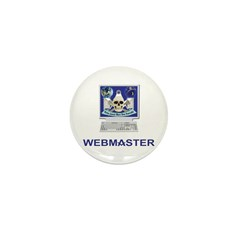 Masonic Webmaster. Spreading the word. Mini Button