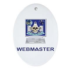 Masonic Webmaster. Spreading the word. Ornament (O