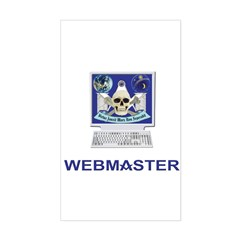 Masonic Webmaster. Spreading the word. Decal