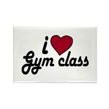 I Love Gym class (Back to School) Rectangle Magnet