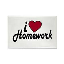 I Love Homework (Back to School) Rectangle Magnet