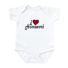 I Love Homework (Back to School) Infant Bodysuit