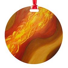 Orange Cannon Fire Ornament
