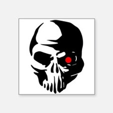 Cyborg Terminator Cyber Robot Tech Skull I Sticker